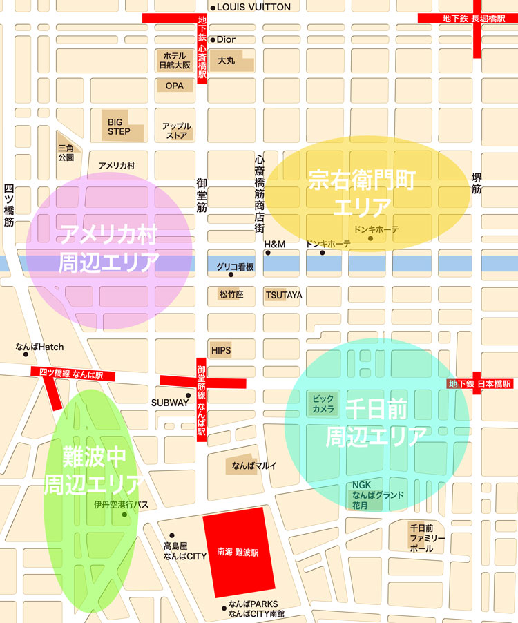 01-難波心斎橋-風俗エリアMAP